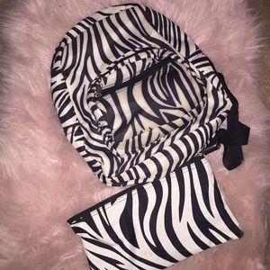 Zebra 🦓 mini backpack and wallet